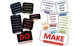 """Phân biệt """"Do"""" và """"Make"""""""