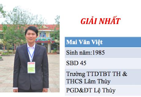"""Hội thi """"Giáo viên dạy giỏi cấp tiểu học"""" Quảng Bình"""