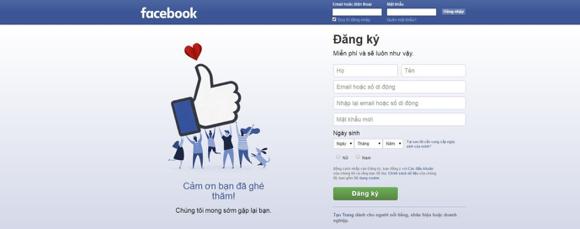 Hướng dẫn đăng kí tài khoản Facebook